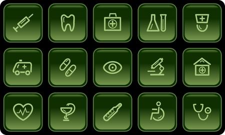 button set: Medizinische Schaltfl�chenset