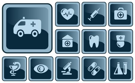 button set: Medical button set