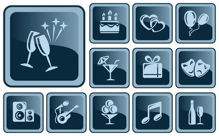 button set: Party button set Illustration