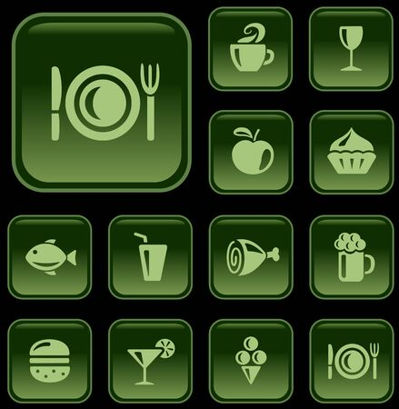 button set: Speisen und Getr?e Schaltfl?e Set