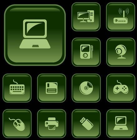 mouse pad: Hardware button set Illustration