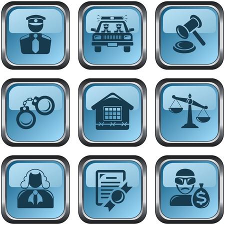 button set: Sicherheit und Recht Schaltfl�chenset