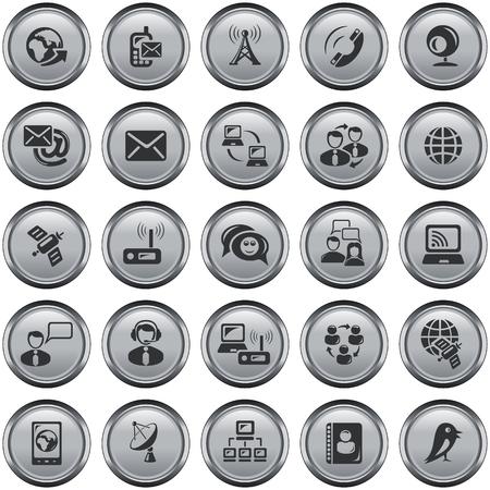 Communication button set Vettoriali