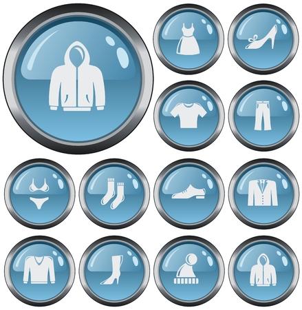 button set: Clothes button set