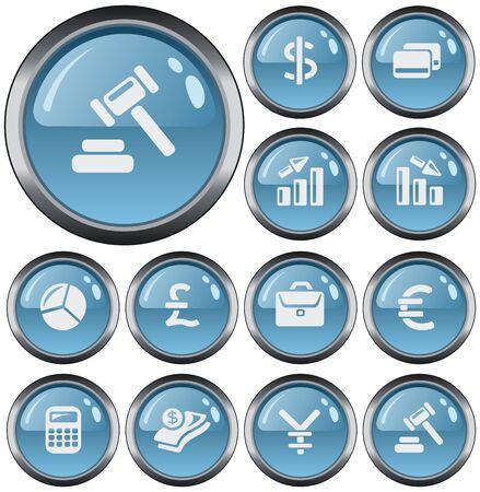 button set: Finance button set