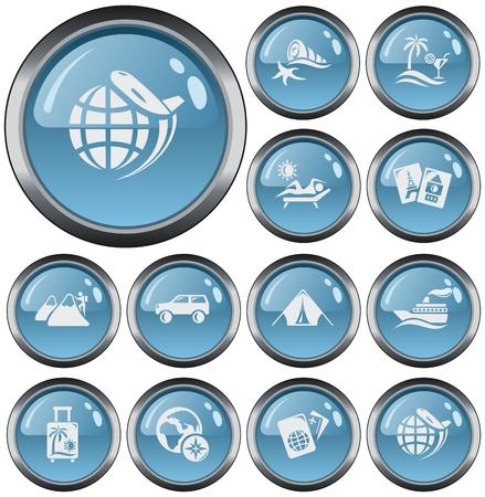 button set: Vacation button set