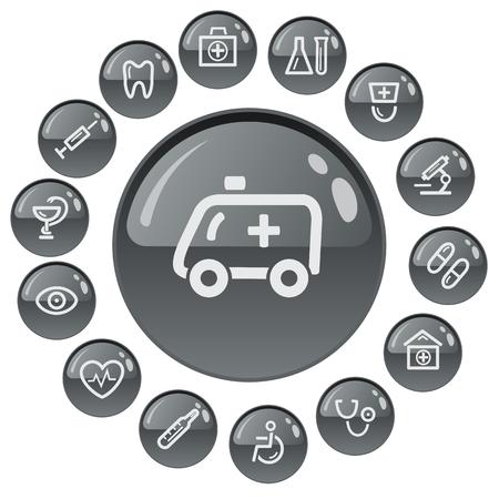 retort: Medical button set