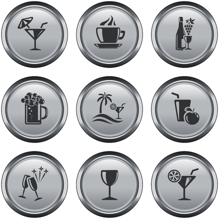 button set: Drinks button set