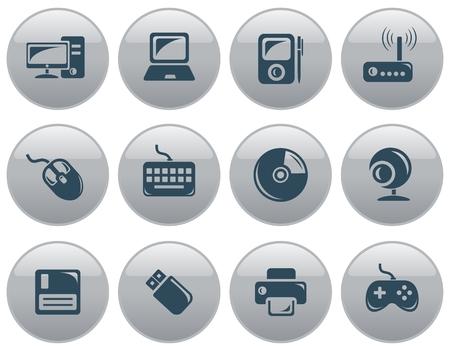 button set: Hardware button set Illustration