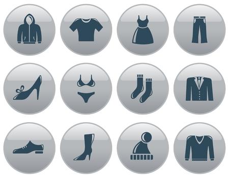 button set: Bekleidung Schaltfl?che Set