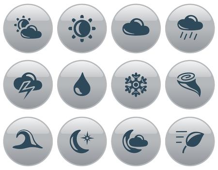 button set: Weather button set Illustration