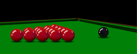 snooker: realistic snooker balls on the table. Illustration