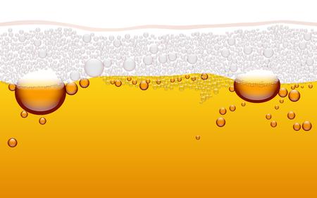 Vector horizontal seamless beer bubble pattern. Beer background. Stock Illustratie