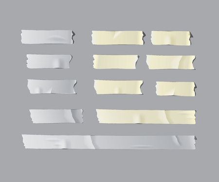 Vector realistic isolated adhesive tape set.