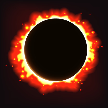 Vector abstract solar eclipse background. Illustration
