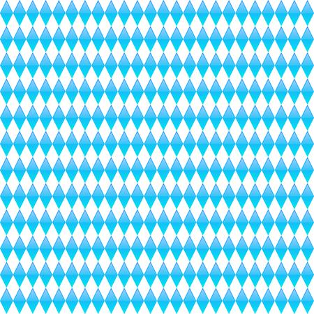 Blue rhombus seamless pattern. Octoberfest vector background.