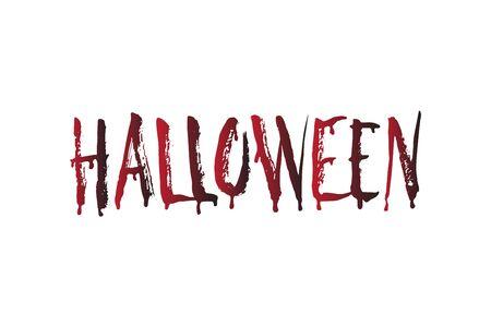 english letters: Blood Halloween word. Vector Halloween design element. Illustration