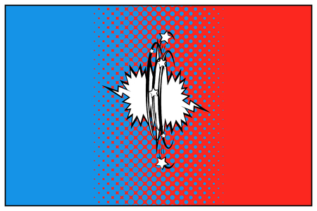 Vector VS icon. Pop art with halftone blue and red versus logo.