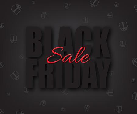 holiday shopping: Black friday sale vector illustration. Black Friday Sale text on black background.