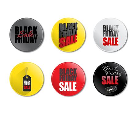 holiday shopping: Black Friday Sale promotion template. Set of Black Friday Sale badges. Vector illustration.