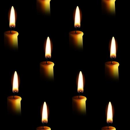 Modèle sans bougies pour les bougies. Illustration vectorielle.