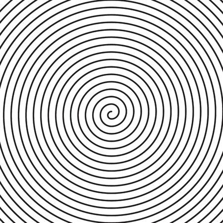 Vector spiral background. Black spiral on white background