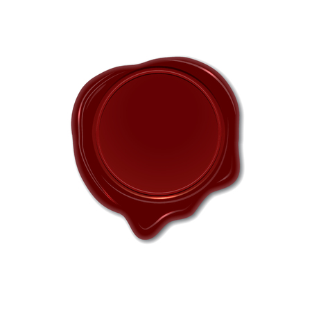 Wax seal. Vector design element. Isolated wax stamp. Stock Photo