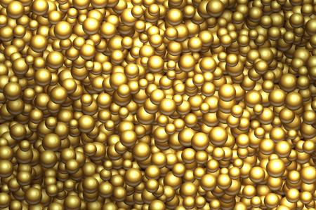 Golden balls background. Vector different sizes golden balls texture illustration. Illustration