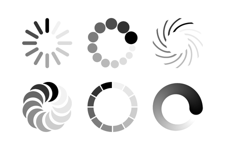 Loading icon set on isolated on white background. Vector design elements