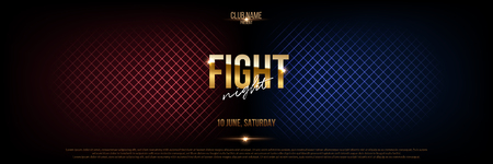 Battle banner vector concept. Girls and boys competition illustration with glowing versus symbol. Night club event promotion. MMA, wrestling, boxing fight poster. Ladies, men night flyer