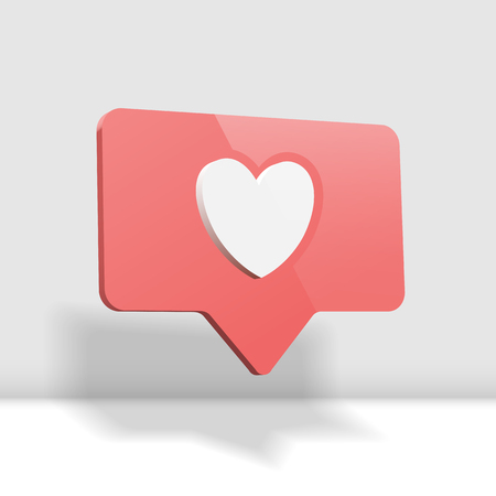 Social media like, comment 3d cartoon illustration
