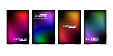 Abstract gradient trendy color background set. Vector illustration