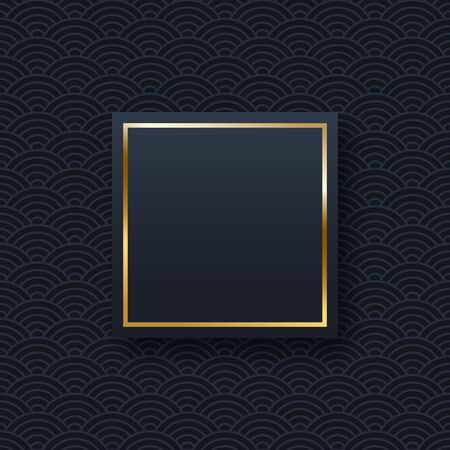 Golden frame minimalistic template with text space