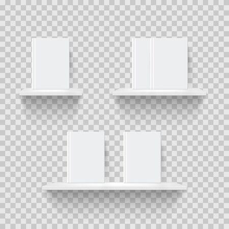 Illustration vectorielle réaliste d'étagères décoratives