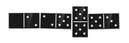 Domino game match realistic illustration Vectores
