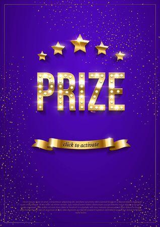 Prize winning web banner vector template Illusztráció