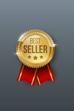 Award medal 3d realistic vector color illustration Ilustrace