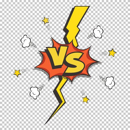 Retro style VS vector logo