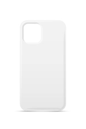 Single empty phone white cover case mockup design