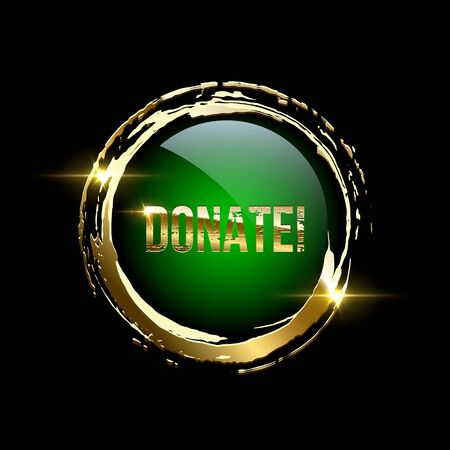 Donate button realistic vector illustration Illusztráció