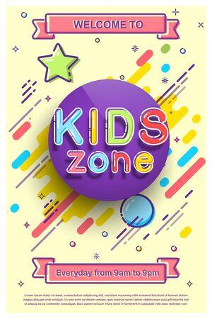Kids zone invitation promo flyer for playroom