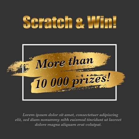 Lottery ticket scratch brush realistic design