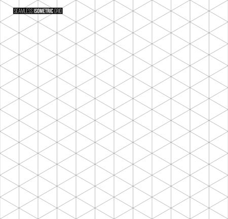 Abstract isometric grid vector seamless pattern