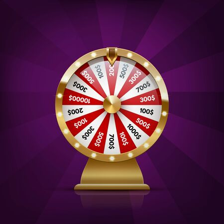 Vector realistic illustration of casino fortune wheel Ilustracje wektorowe