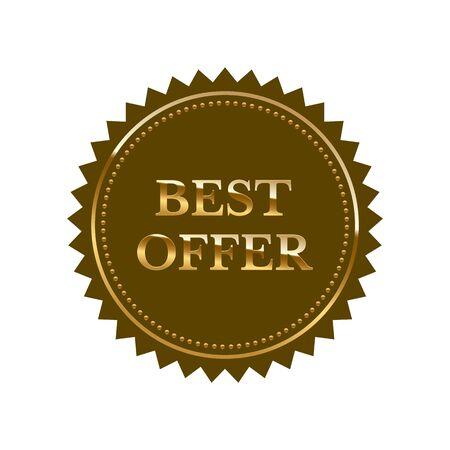 Best offer vector seal isolated on white backdrop