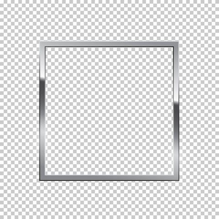Shiny sparkling silver square vector illustration. Glossy, glowing rendering effect. Present for engagement, Valentine s Day. Jewelry boutique, gift shop, store. Wedding, marriage proposal poster.
