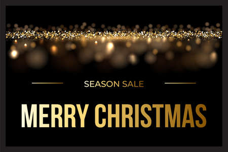 Christmas sale design template. Vector luxury background with Christmas sale text.