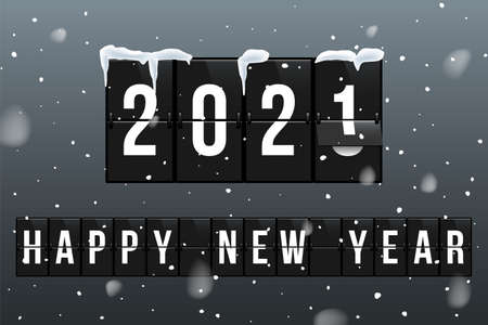 New Year 2021 vector greeting card template