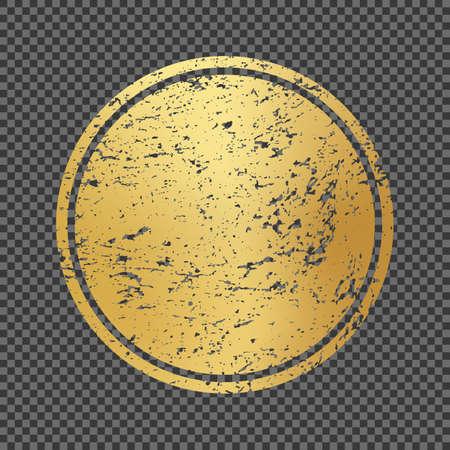 Vector Illustration golden round frame grunge texture Vectores