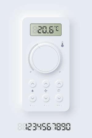 Neomorphism climat application interface design
